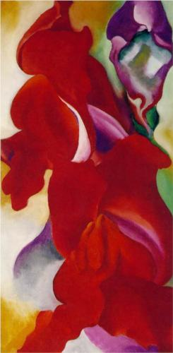 Red Snapdragons  Red Snapdragons - Georgia O'Keeffe Artist: Georgia O'Keeffe Completion Date: 1923